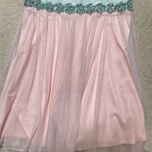 City Triangles Dresses - Pink and blue strapless prom/homecoming dress